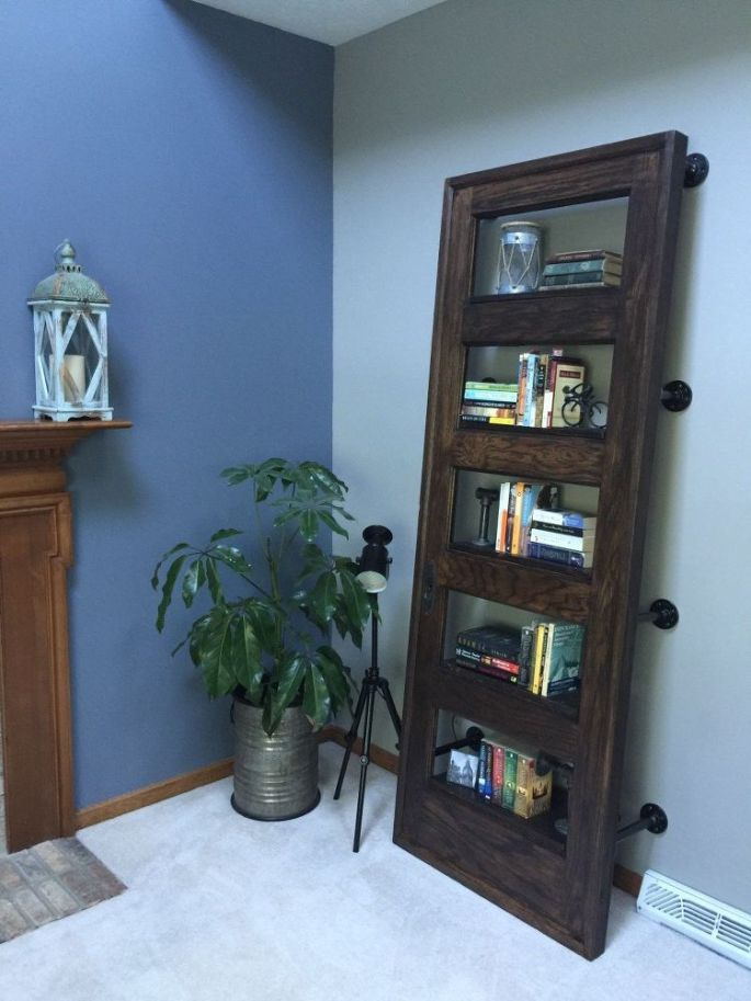 I Saw Some Great Bookshelves Made Out Of Doors Online So Decided Wanted To Make One And It Lean Started Searching For A Door